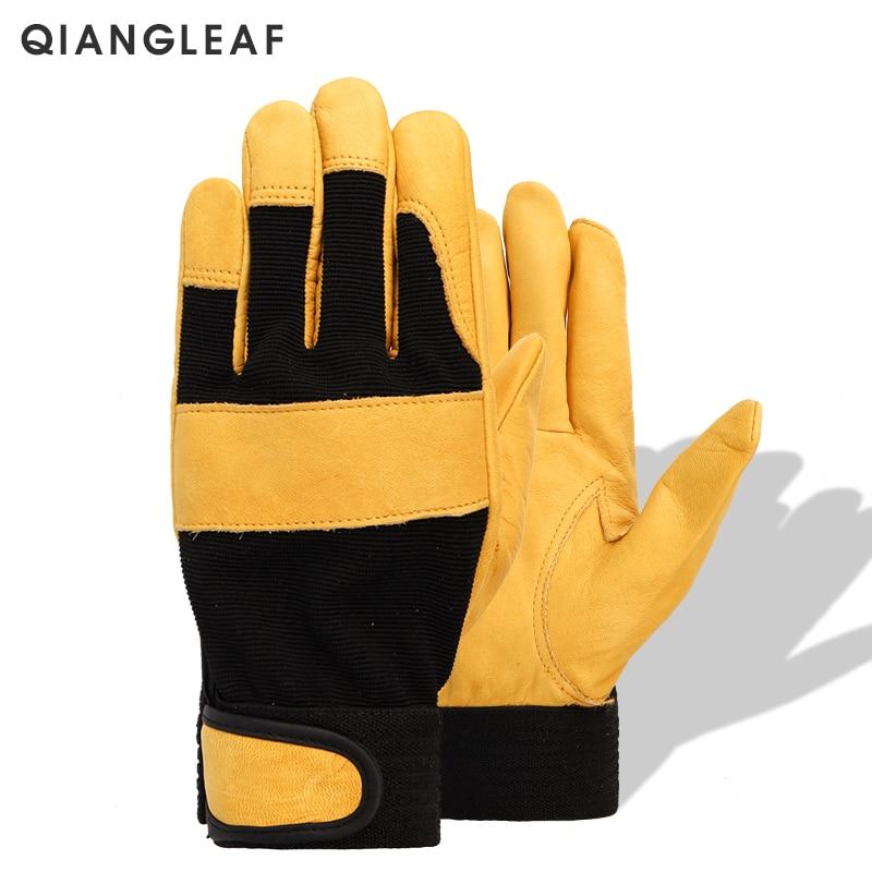 QIANGLEAF Brand Mechanical Work Gloves Flex Extra Grip Unisex Working Riding Safety Protective Garden Sports Glove 3031