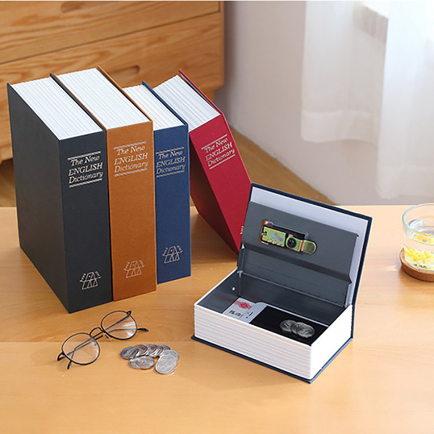 Portable Key/Password Simulation Book Safe Box Mini Dictionary Hidden Safes Case Jewelry Cash Security Storage Boxes Safe Lock