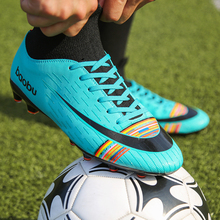 2019 New Mens Soccer Cleats  Long Spikes Soccer Boots Outdoor Football Shoes Profession Sport Trainers Sneakers Futsal
