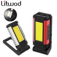 Lampe de travail COB avec aimant, multifonction, réglable, torche étanche, Rechargeable par USB, pour Camping