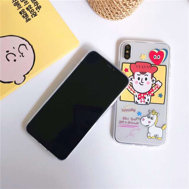 Comic Cute Buzz Lightyear Woody Phone Case