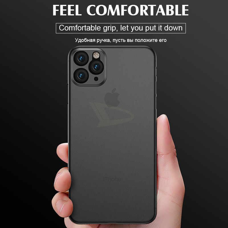 יוקרה עמיד הלם 0.3MM Ultra Thin מקרה עבור iphone 11 פרו X XS XR מקסימום מט TPU כיסוי עבור iphone 8 7 6 6s בתוספת רך מקרה כיסוי