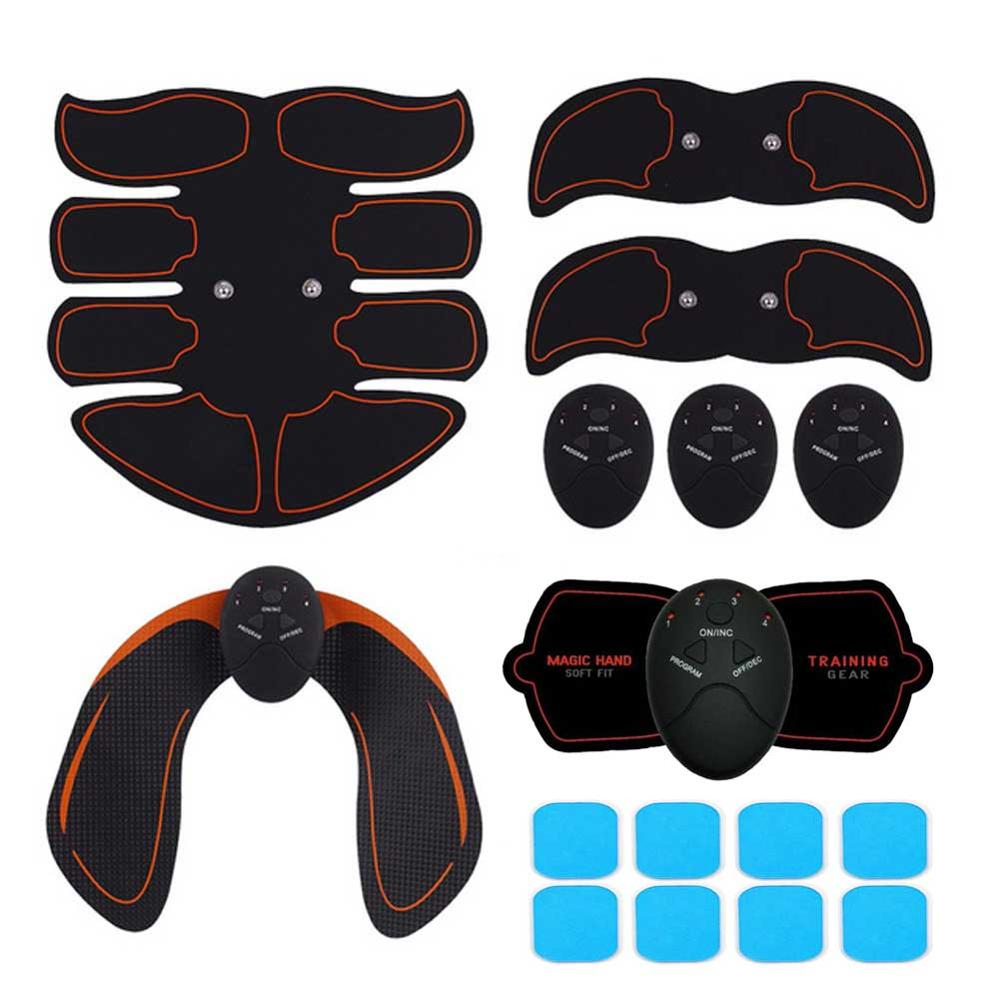 Electric ABS Wireless Muscle Simulators Smart Fitness Abdominal Training Device Electric Body Exerciser Belly Leg Arm Workout