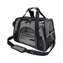 Pet viagem ao ar livre cão de estimação filhote de cachorro gato respirável portador bolsa estilingue ajustável bolsa de ombro