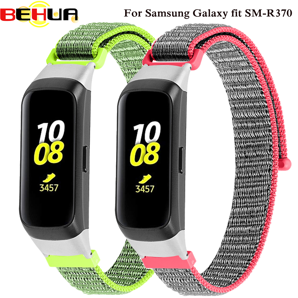 Nylon Loopback Sport Watch Straps Newest Wrist Band For Samsung Galaxy Fit SM-R370 Smart Bracelet Watch Strap Belt Accessories
