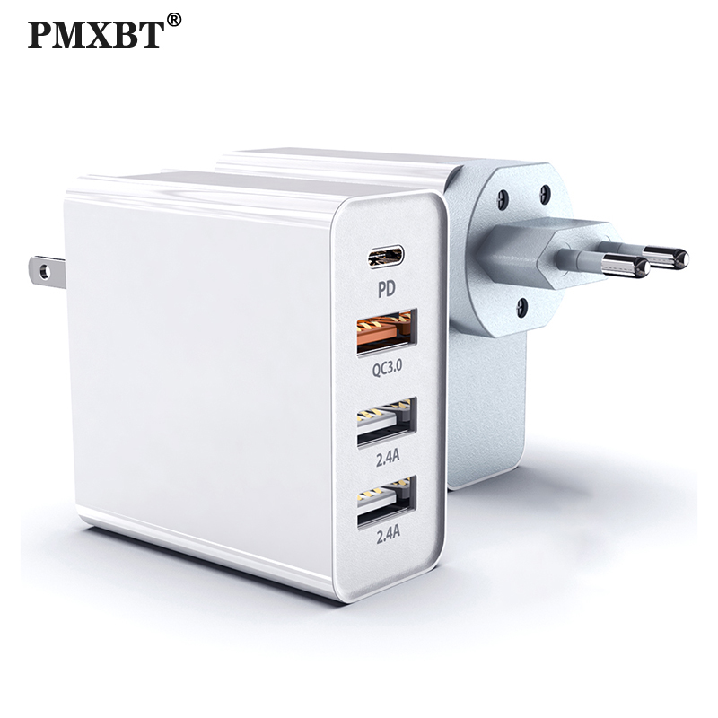 PD Type-C Multi <font><b>USB</b></font> <font><b>Charger</b></font> For iphone 11 Pro MAX X Xiaomi Samsung S10 Huawei Tablet Wall Fast <font><b>Charger</b></font> Supercharge Power Adapter image