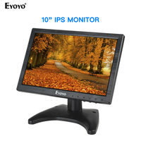 Eyoyo 10.1 Inch IPS LCD Monitor 1280x800 with HDMI VGA BNC AV Input for PC CCTV LCD Screen Hdmi Portable Monitor Display