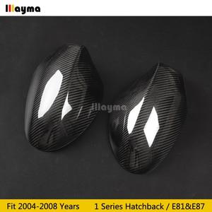 Image 3 - Carbon Fiber Mirror cover For BMW 1 Series Hatchback 116i 120i 130i 135i 2004 2008 year E81 E87 Car rear mirror cap stick on