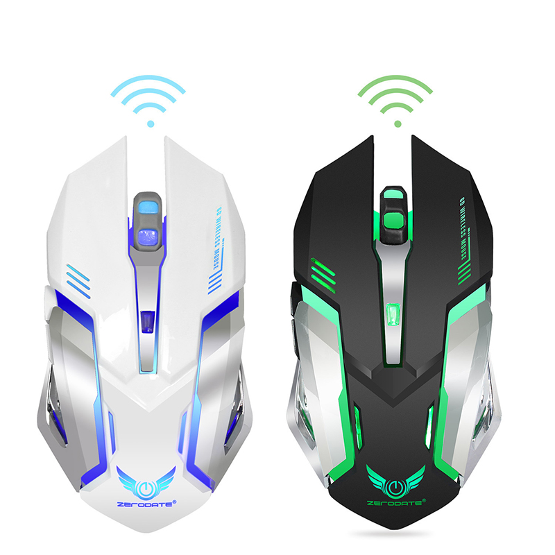 X70 Colorful Shining Gaming Mouse 2.4G Chargeable Wireless Mouse Built-in 600 Miliamps Manufacturers Direct Selling Currently Av
