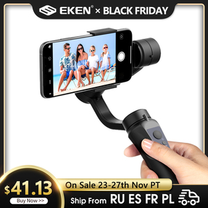 EKEN H4 3 Axis Handheld Stabilizer Cellphone Video Record Smartphone Gimbal For Action Camera phone