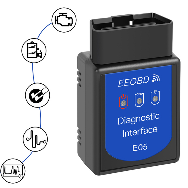 أداة تشخيص السيارات OBDII ELM327 ، قارئ رمز OBD2 ، WIFI ، لسيارة شيفروليه ، فورد ، رينو ، دودج ، جيب ، كاديلاك ، لادا وهيونداي