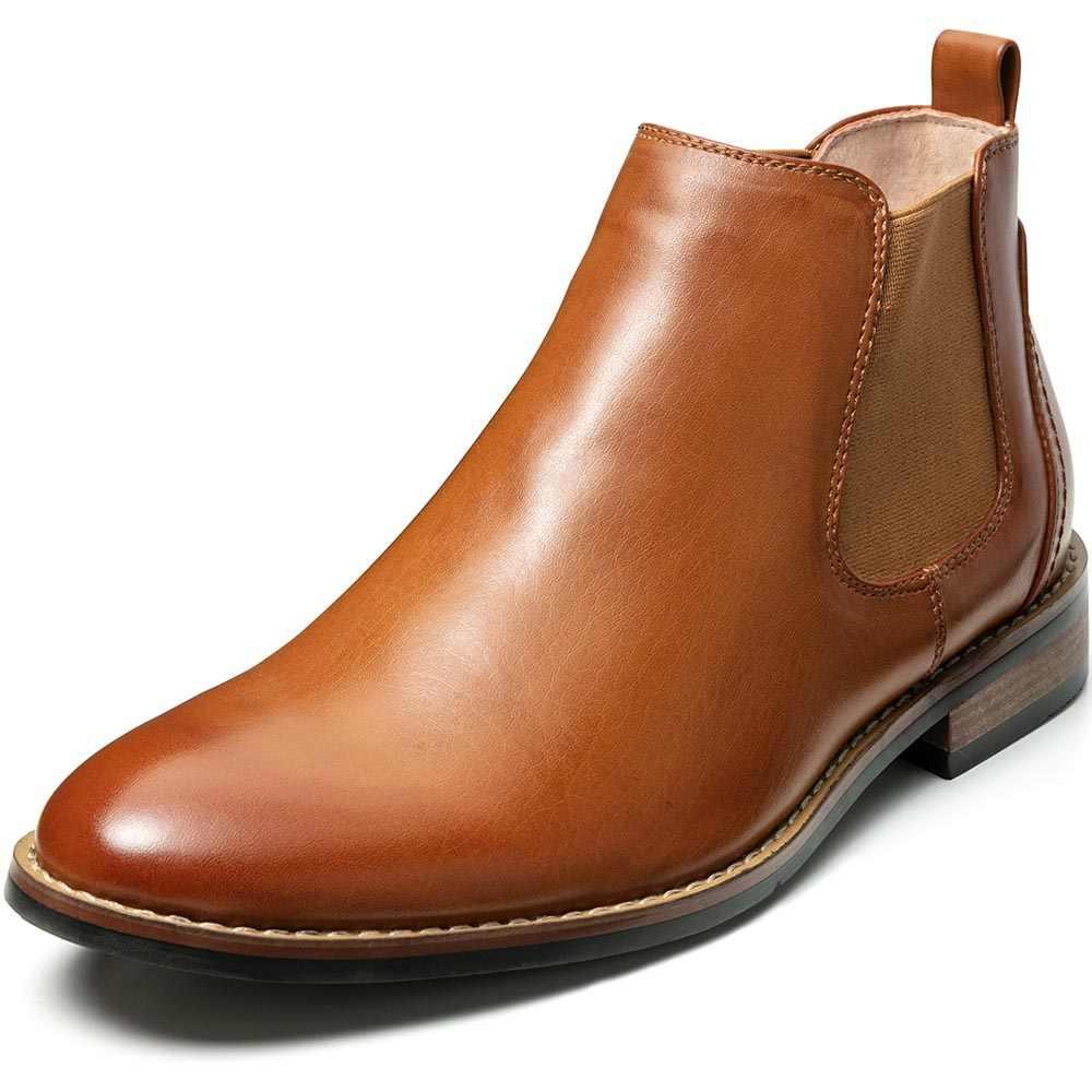 Zusigel Mode Laarzen Mannen Suède Enkellaarsjes Slip-On Mannen Casual Schoenen Lederen Britse Stijl Pu Boot Schoenen amerikaanse Maat 7-13