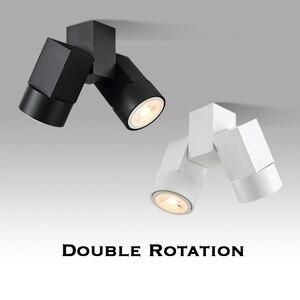 Image 1 - Kapalı led downlight led gu10 180 ayarlanabilir çift yüzey montaj spot beyaz/siyah tavan ışık
