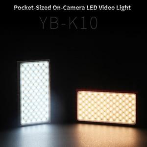 Image 2 - YB K10 כיס בגודל על מצלמה LED וידאו אור 180 נוריות אור גבוהה CRI 3200 K 5600 K צילום מנורת עבור Sony ניקון DSLR