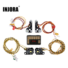 INJORA TRX4 RC Car Front Rear LED Lights Lamp Group for 1/10 RC Crawler Traxxas TRX 4 Defender