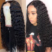 360 profundo onda de encaje frente pelucas de cabello humano 180 de densidad Remy brasileño Peluca de encaje con cabello de bebé PrePlucked para las mujeres negras Arabella