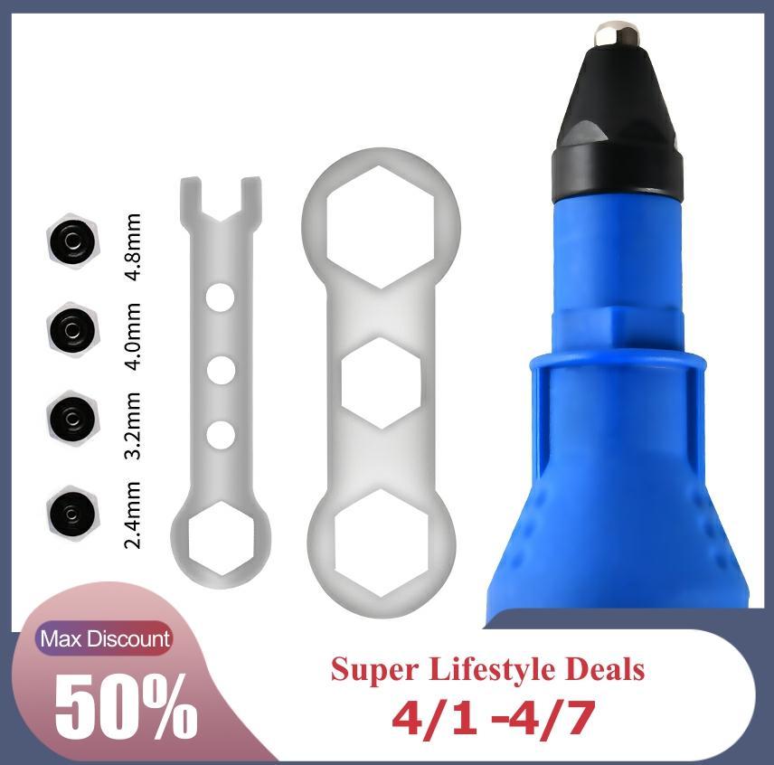 Electric Rivet Nut Gun  Rivet Nut Tool  Cordless  Rivets Drill Adapter  Rivet Drill  Bits Tool  2.4mm-4.8mm
