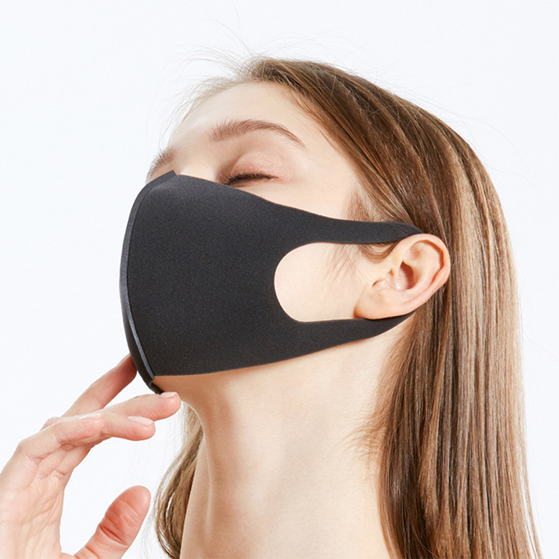 Black Anti Haze Dust Dust Mouth Mask Men Women Breathable Face Mask Unisex Washable Reusable Outdoor Wind Proof Mouth Cover Mask