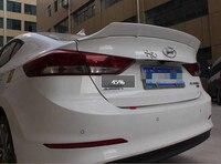 For Hyundai Elantra Spoiler ABS Material Car Rear trunk Wing Primer Color Rear lip Spoiler 2017 2019