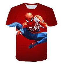 2021 verão spidermans meninos t camisa moda 3d impressão crianças t camisa para o menino de manga curta bebê meninas t camisa das crianças roupas