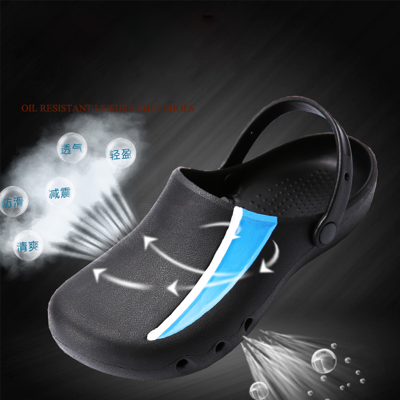 EVA High Quality Chef Shoes Non-slip Waterproof Oil-proof Kitchen Work Shoes for Chef Master Cook Restaurant Slippers