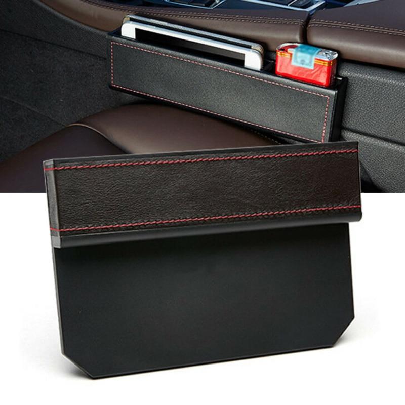 2pcs Car Auto Storage Box Case Seat Console Gap Filler Pocket Organizer Parts
