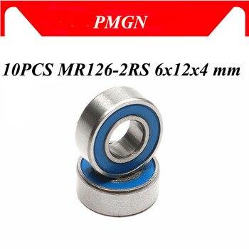 10 шт. ABEC 5 MR126 2RS MR126 2RS MR126 RS MR126RS 6x12x4 мм синий резиновый герметичный миниатюрный высококачественный глубокий шаровой подшипник Подшипники      АлиЭкспресс