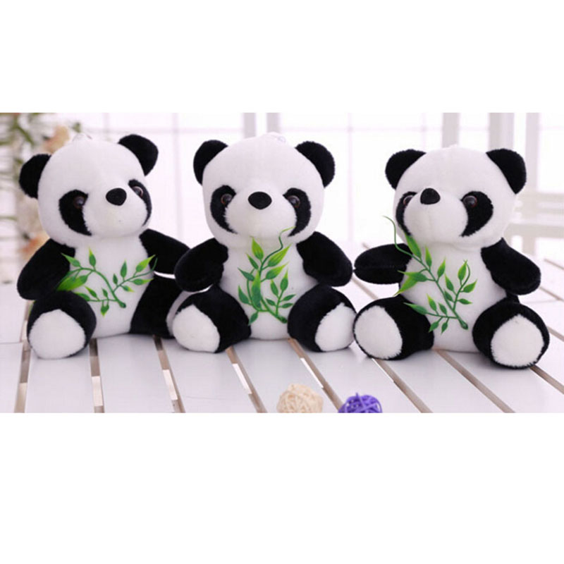 New Kids Gift Toy Cute Cartoon Panda With Bamboo Baby Plush Stuffed Toys Infant Soft Key Chain Birthday Gift For Children