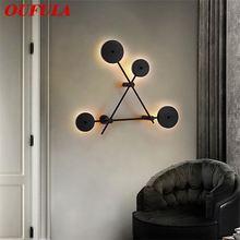 Oufula Крытый настенный светильник светодиодный черный современный