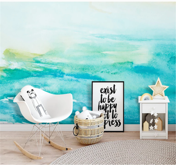 Custom 3D wallpaper mural modern minimalist abstract ink hand-painted watercolor Nordic interior decoration painting