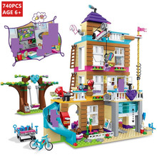 730Pcs Friends Girls Series Friendship House 10859 Model City Building Blocks Sets Bricks Educational Toys for Children