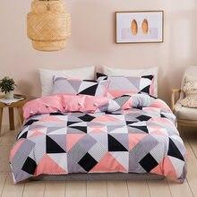 Nórdico geométrico capa de edredão 3d conjunto cama colcha algodão edredões capas conjuntos 220*240 única rainha rei tamanho fronhas