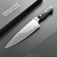Professional Chef Knife Damascus Steel VG10 Japanese Kitchen Knives Butcher Gyuto 8 inch Cleaver Cook Knives Slicing G10 Handle