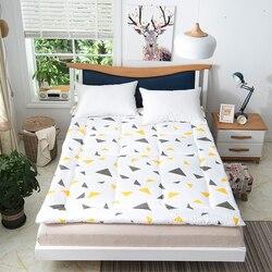 Colchão de poliéster japonês grosso quente dobrável piso esteira colchão moda nova cama acolchoado têxteis para casa