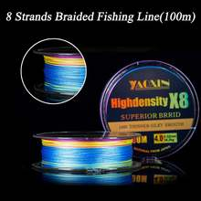 Леска рыболовная плетеная 8 нитей 100 м 9 155 236 315 398 кг