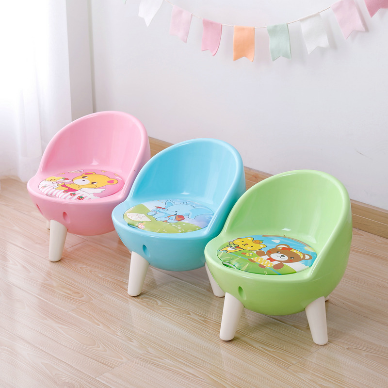 Children's Chair Back Call Chair Thickening Baby Small Stool Children Eat Plastic Chair Non   Skid Plastic Household.|  - title=