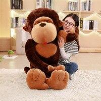 1pc 110cm huge size cartoon Big mouth monkey plush toy the Gorilla Diamond plush doll stuffed pillow for children playmates toy