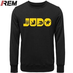 Image 4 - Sweat shirt, col ras du cou graphique, en coton imprimé, vêtement de Judo REM, Arts martiaux, cadeau pour hommes
