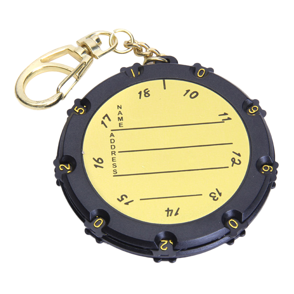Professional Golf Scorer Score Record Keeper Scores Counting Tool Bag Tag