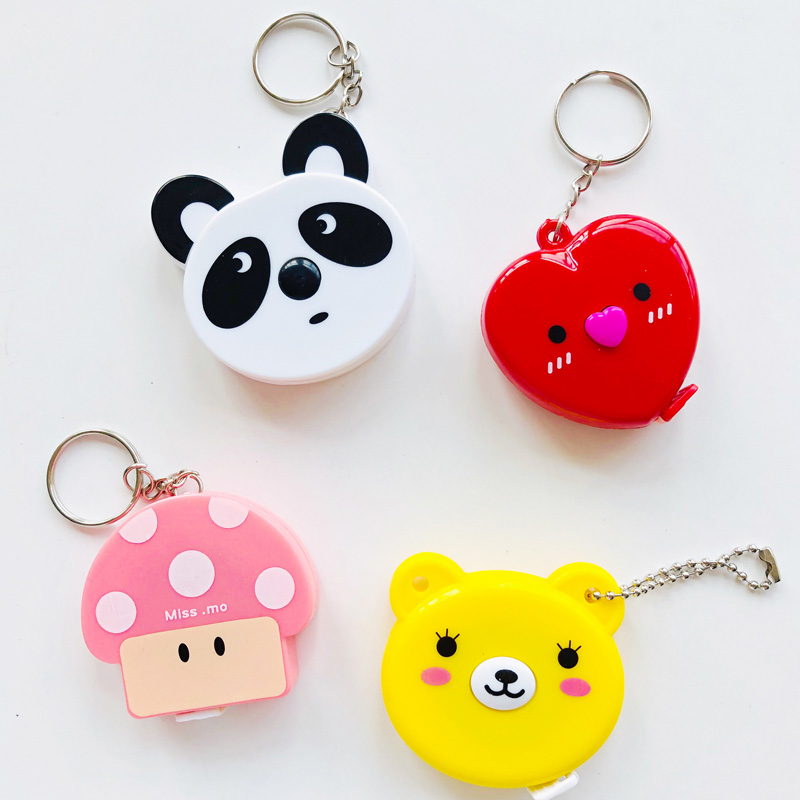1X Kawaii Panda Heart Mushroom 150cm Measuring Band Tape Ruler
