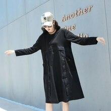 Женское свободное платье на пуговицах Повседневное с круглым