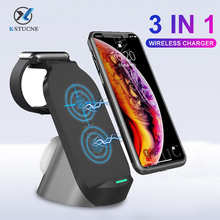 KSTUCNE 15W Qi Wireless Charger Stand 3 in 1 Fast Charging  For iPhone 12 11  XR Samsung Buds For Apple Watch 6 5 4 Airpods Pro