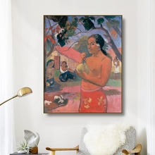 Canvas Art Oil Painting《Woman holding a fruits》Paul Gauguin Art Poster Picture Wall Decor Modern Home Decoration For Living room