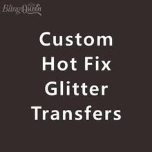 HTV Vinyl Transfers Glitter Iron-On Custom Blingqueen 12pcs/Lot Hot-Fix Korean-Quality