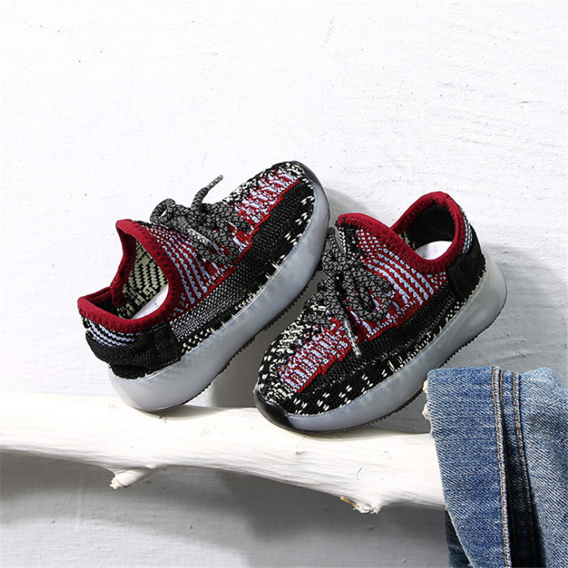 New Baby Soft Toddler Shoes Fashion Breathable Knitting Infant Shoes Soft Non-slip Boy Girl Darling Coconut Shoes Child Sneakers