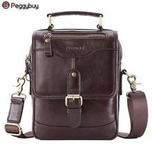 Для мужчин Курьерские Сумки из натуральной кожи Для мужчин Винтаж сумка из воловьей кожи Сумки сумка в стиле casual Для мужчин сумки