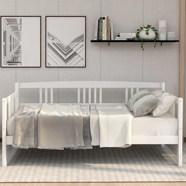 Wooden Bed  Pine Frame  2