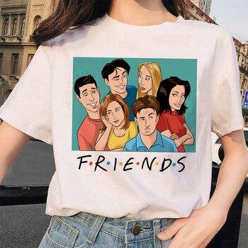 цена на Oversized Men's T Shirt Summer Women T-shirt Friends Harajuku Trendy Clothes for Women Short Sleeve Tee Shirt Femme