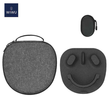 WIWU Smart Case for Airpods Max EVA Hard Shell Water-resistant Auto Disconnect the Bluetooth Connection Portable Cable Organizer cheap CN(Origin) Earphone Cases WIWU Case for Airpods Max Plastic
