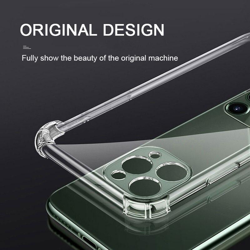 Custodia protettiva in Silicone antiurto per iPhone 12 11 Pro Xs Max custodia protettiva per fotocamera iPhone X Xr 6s 6 7 8 Plus Cover posteriore 2